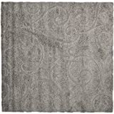 Safavieh Florida Shag Collection SG455-8013 Grey Shag Area Rug, 8-Feet by 10-Feet