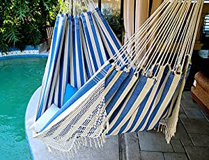 King Size Hammock with Croche Fringe, Made in Brazil : Everything Else