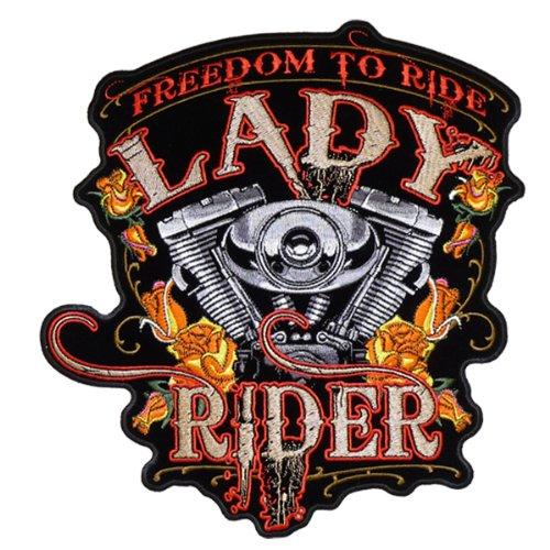Hot Leathers Freedom To Ride Lady Rider Patch (4