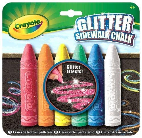 Crayola 6 Count Glitter Sidewalk Chalk by Crayola [Toy] - 1