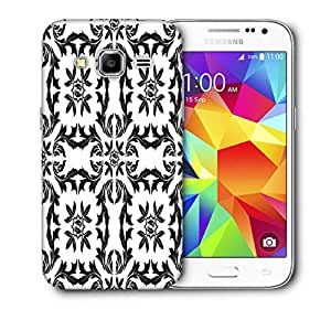 Snoogg Circles Pattern Grey Printed Protective Phone Back Case Cover For Samsung Galaxy CORE PRIME