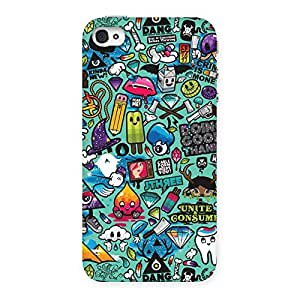 Premium Premier candy Multicolor Back Case Cover for iPhone 4 4s