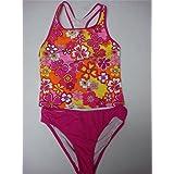 Girl's 14 SPEEDO Tankini Swimsuit Bikini Set 2PC Swimwear Bathing Floral Prints