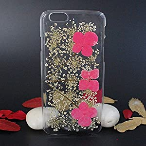 Beautiful Real Flowers Clear Slim Unique Design Phone Case for iPhone 6