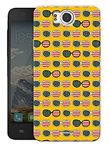 "America Glasses Printed Designer Mobile Back Cover For ""Google Infocus M530"" By Humor Gang (3D, Matte Finish, Premium Quality, Protective Snap On Slim Hard Phone Case, Multi Color)"