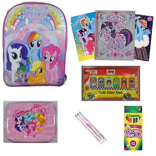 My Little Pony School Supplies and Back to School Bundle - MLP Backpack - Lunch Box - Folders - Notebook - Pencils and Much More MLP Merchandise - Great Gift