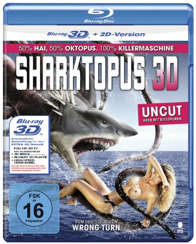 Sharktopus (Uncut) [3D Blu-ray + 2D Version]