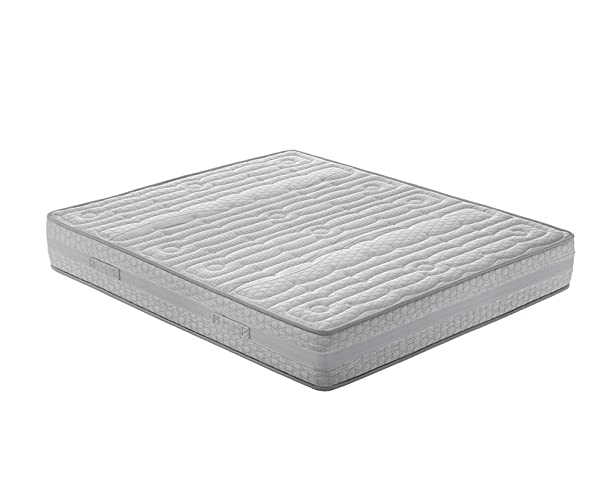 Nicoflex Memory Fresh Materasso, Poliuretano/Cotone, Bianco, Esclusiva Amazon, 200x160x27 cm