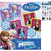 Disney Frozen Memory Match Game Holiday Gift Set For Kids - 1 (54-Piece) Floor Memory Match Game Set