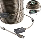 Neekeons USB 2.0 A Male to A Female Extension Active Repeater Extension Cable with Built-in Signal Booster Chips for Printer, Keyboard,computer,Camera, scanners,Game Console,Loudspeaker. (20M(60Feet)) (Tamaño: 20M(60Feet))
