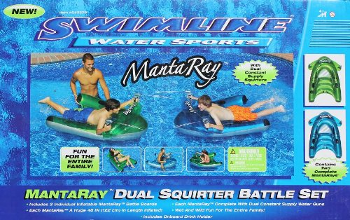 2 Pack Swimline Water Sports Mantaray with Dual Squirter