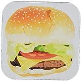3dRose cst_43705_1 Giant Hamburger N Bun-Soft Coasters, Set of 4