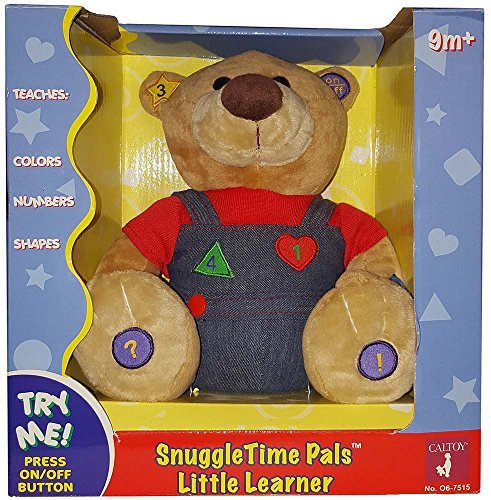 Snuggletime Pals Little Learner Electronic Teaching Stuffed Bear Caltoy - 1