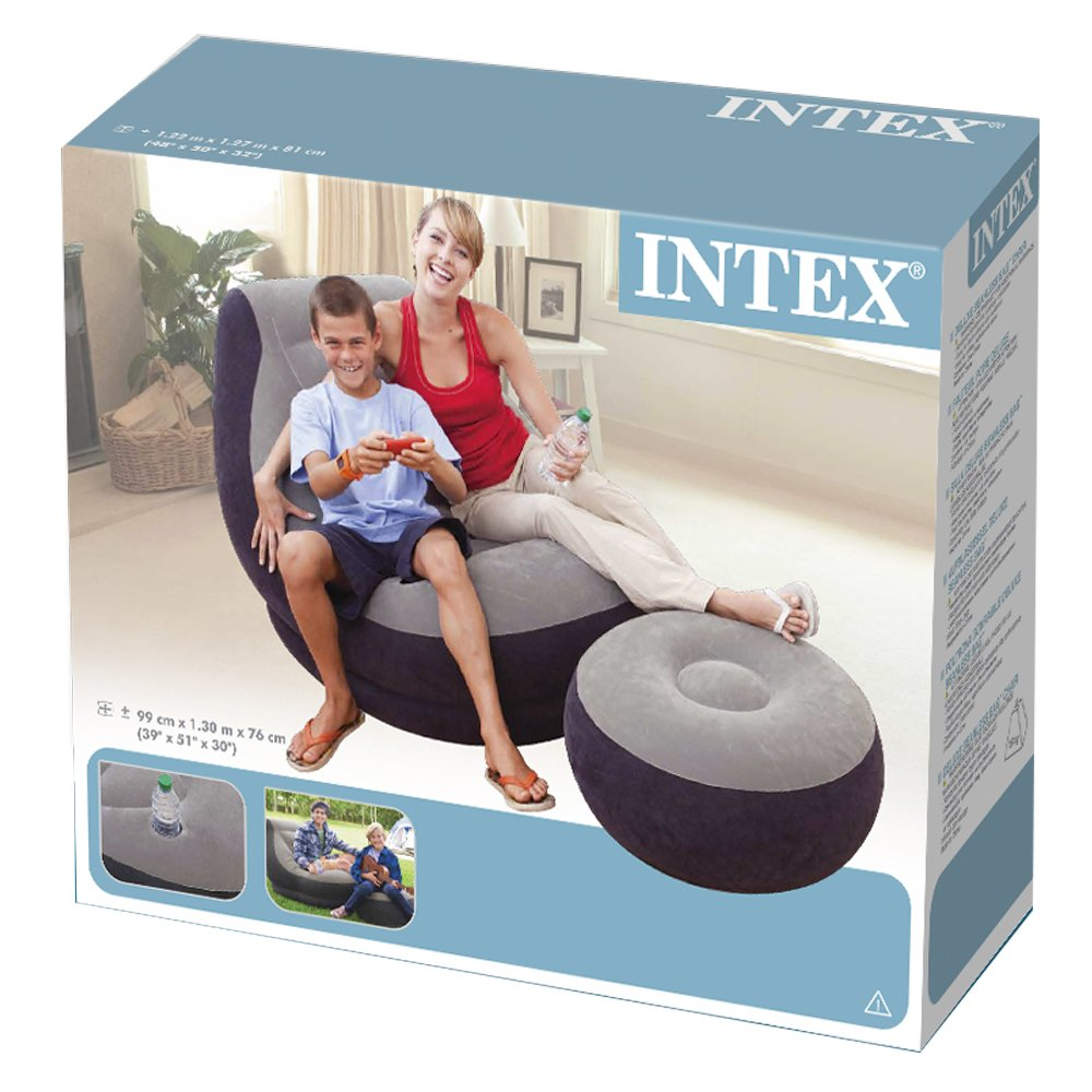 Inflatable cheap couches chairs ultra lounge w ottomans recliners relax camping - Cheap relaxing chairs ...