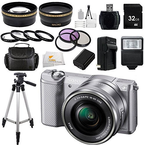 Sony Alpha a5000 ILCE-5000L/S ILCE5000LS ILCE5000 20.1 MP SLR Camera with 16-50mm...