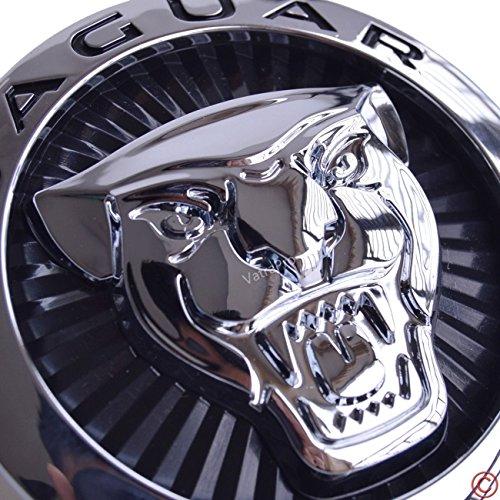 new-jaguar-xj-xjl-xf-supercharged-growler-front-grille-roundel-emblem-badge-decal-large-black-70mm-u