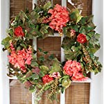 Genesee Silk Spring Door Wreath 24 Inch- Beautiful Silk Front Door Wreath For Spring And Easter Wreath Display, Handcrafted By The Wreath Depot, Beautiful White Gift Box Included