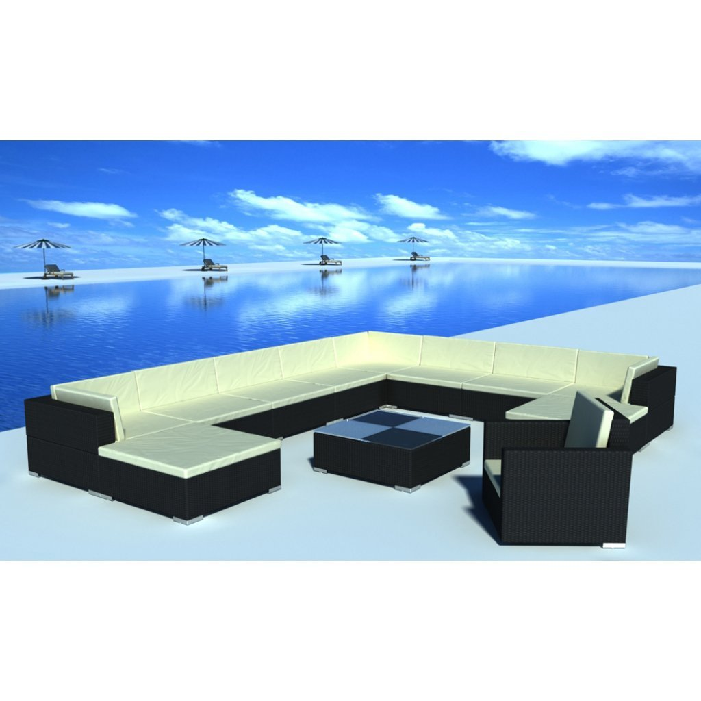 vidaXL Gartenmöbel Poly Rattan Lounge Rattanset bestellen