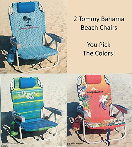 2 tommy bahama backpack cooler chair with storage pouch and towel bar - Tommy Bahama Chairs Beach
