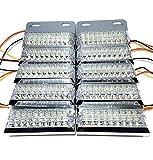 トラック 用 角型 18 LED サイド マーカー ランプ ライト 12V 24V 兼用 10個 セット ホワイト アンバー レッド ブルー グリーン カラー 各種 ダンプ カー トレーラー デコトラ 等 (ホワイト)