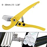 ChgImposs Plastic Pipe and Tube Cutter, Aluminum Alloy Scissors Ratcheting Hose Cutter One-hand Fast Pipe Cutting Tool for PVC/PPR Pipe/Other Material Cutting