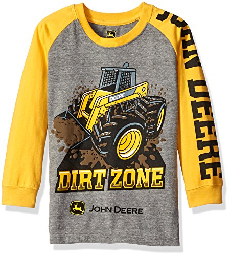 b7d44585f John Deere Little Boys Dirt Zone Tee, Medium Grey/Yellow, 6 - Import ...