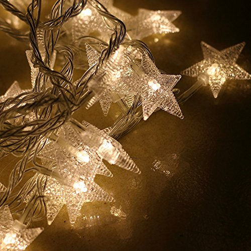 warm white christmas star led string lights low voltage. Black Bedroom Furniture Sets. Home Design Ideas