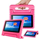 CAM-ULATA for Amazon Fire 7 2017 2015 Case Kids 7th 5th Generation for Girls Toddles with Stand Kindle Cover 7 inch Pink (Color: pink, Tamaño: Fire 7 2017/2015)