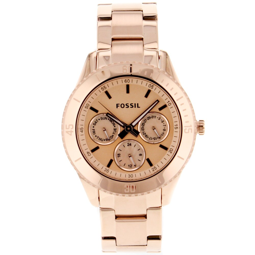 fossil stella s chronograph gold tone stainless
