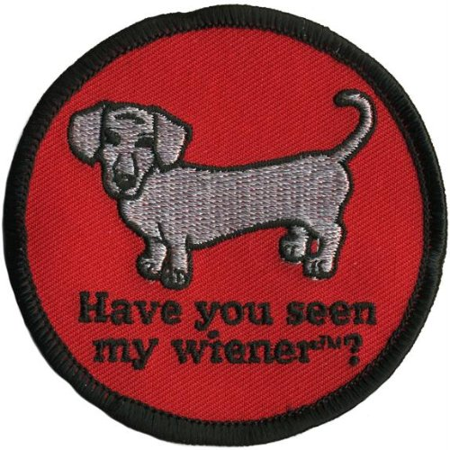Old Glory - Mens Have You Seen My Wiener Patch Red front-996676
