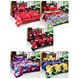 Wonder Collection Set of 5 Floral Double Bedsheets with 10 Pillow Covers