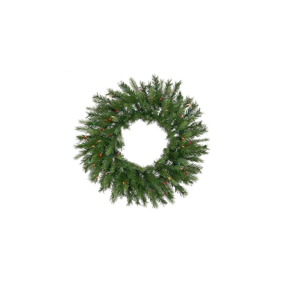 30 Pre Lit Tiffany Spruce Artificial Christmas Wreath   Multi Lights