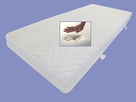 Viskoelastische Matratze RG 60 Höhe 22 cm, 80 / 90 / 100 x 200 cm mit 7 cm Visco / Visko Schaum viscoelastische Matratzen druckentlastend soft / weich