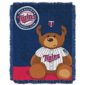 MLB Minnesota Twins Field Woven Jacquard Baby Throw Blanket, 36x46-Inch by Northwest