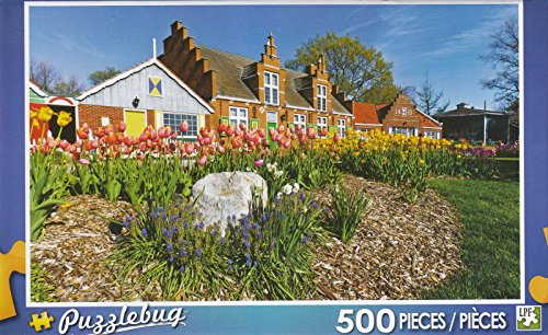 Colorful Tulips of Windmill Island 500 Piece Puzzle