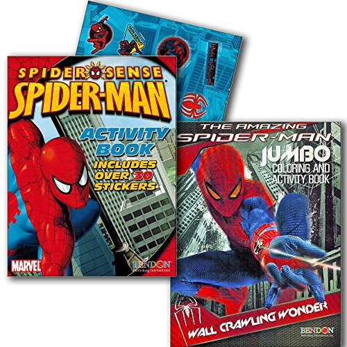 Marvel Spiderman Coloring and Activity Book Set with Stickers (2 Books) (Marvel Maze compare prices)