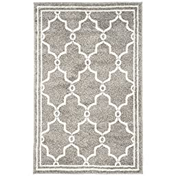 Safavieh Amherst Collection AMT414R Dark Grey and Beige Indoor/ Outdoor Area Rug, 2 feet 6 inches by 4 feet (2\'6\