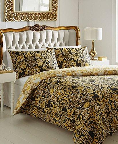 De Cama Milan-Set copripiumino, colore: oro, King-size