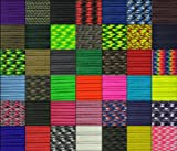 Paracord Planet USA Made 550 Type III Paracord, 100 Feet - Now Selling Over 200 Parachute Cord Colors!