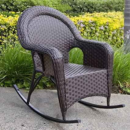 Outdoor Wicker Rocking Lounge Chair