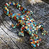 Harlequin Mosaic Resin Lizard Garden Ornament
