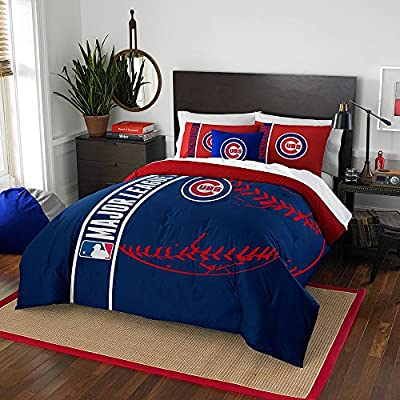 Chicago Cubs Comforter and Sham Bed Set