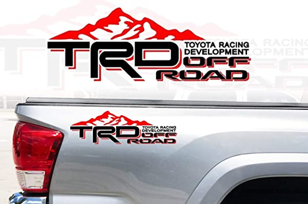 Toyota SR5 Truck Mountain Off-Road 4x4 Racing Tacoma Decal Vinyl Sticker PAIR