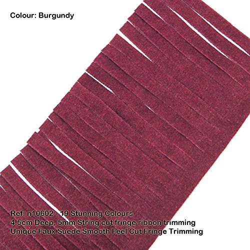 [Neotrims Vegan Faux Suede Leather Tassel Cut Fringe Trimming, Cowboy Western Fringe, 19 Colours, Boho Chic Style Edge Ribbon for Costume, Home Décor & Crafts. Vegetarian option to Real Seude. Great] (Chic Costumes)
