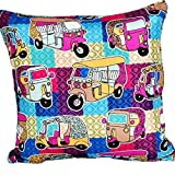 Eminent Craft Pink Auto Decorative Throw Pillow / Cushion Cover Pink 16' X 16'