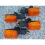 i5 Set of Four FULL-SIZE SHORT-STEM DUAL-SPORT TURN SIGNALS for Honda Kawasaki Suzuki Yamaha