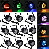 TMS® TMS 10pcs 86 RGB LED Stage Light Par Dmx-512 Lighting Laser Projector Party Club Pub KTV Dj
