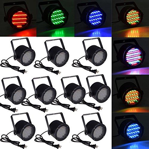 10Pcs 86 Rgb Led Stage Light Par Dmx-512 Lighting Laser Projector Party Club Pub Ktv Dj front-523455