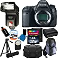 Canon EOS 6D 20.2 MP CMOS Digital SLR Camera with 3.0-Inch LCD With Extra Battery + Bower SFD728C TTL Zoom Shoe Mount Flash + Tripod + DSLR Backpack + with 32GB Complete Deluxe Accessory Bundle And Much More!