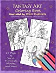 Fantasy Art Coloring Book: Fairies, M...
